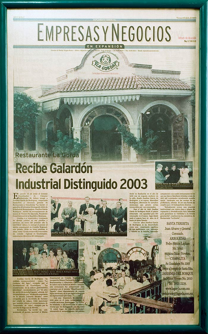 Galardón Industrial Distinguido 2003